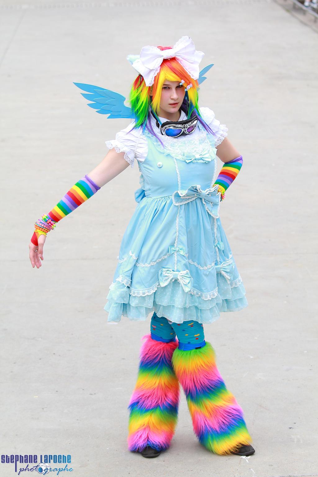 Rainbow Dash Lolita My Little Pony 03 by KyuProduction
