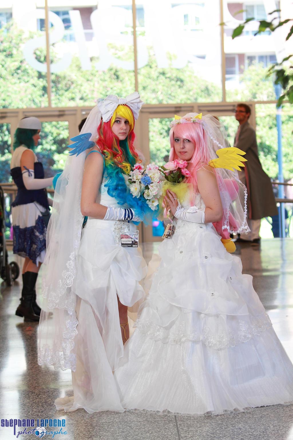 Rainbow Dash Fluttershy Wedding by KyuProduction