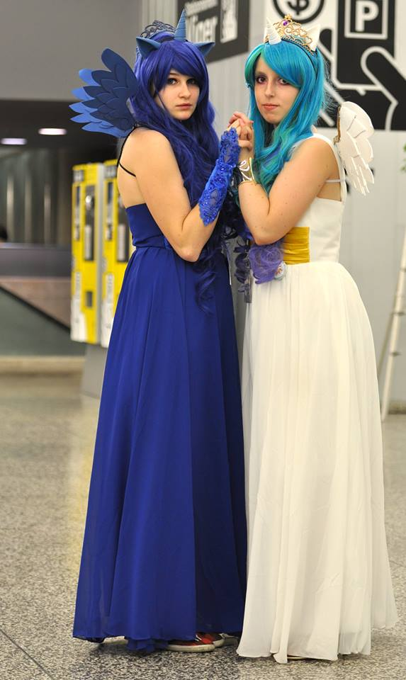 Princess Luna Princess Celestia Otakuthon 2013 by KyuProduction