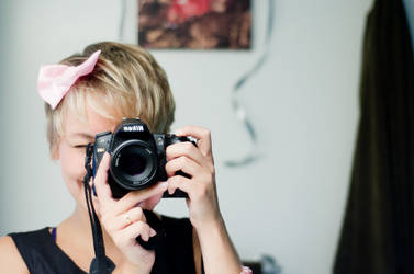 self portrait with a bow by olya