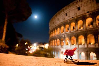 Miniature chair and Coliseum