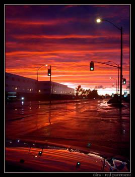 red pavement
