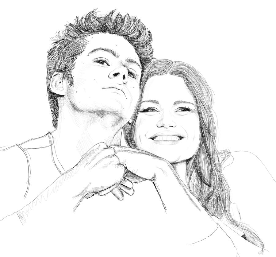 Dylan O'Brien and Holland Roden by Golden-Plated on DeviantArt