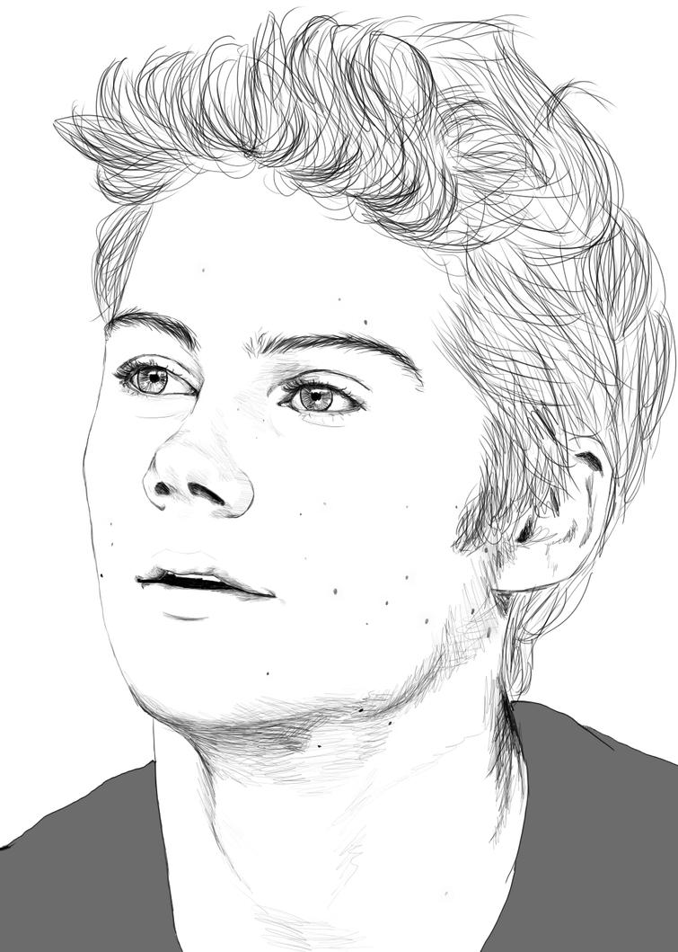 boy hair coloring pages - photo#38