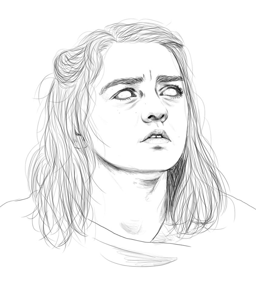 A Girl Is Arya Stark by Golden-Plated