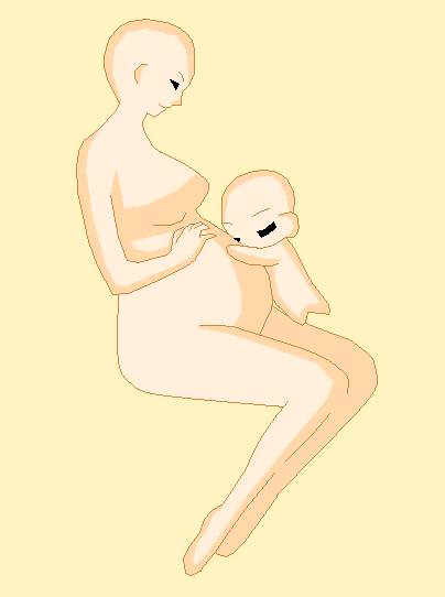 the baby is kicking base by Preg-pixels