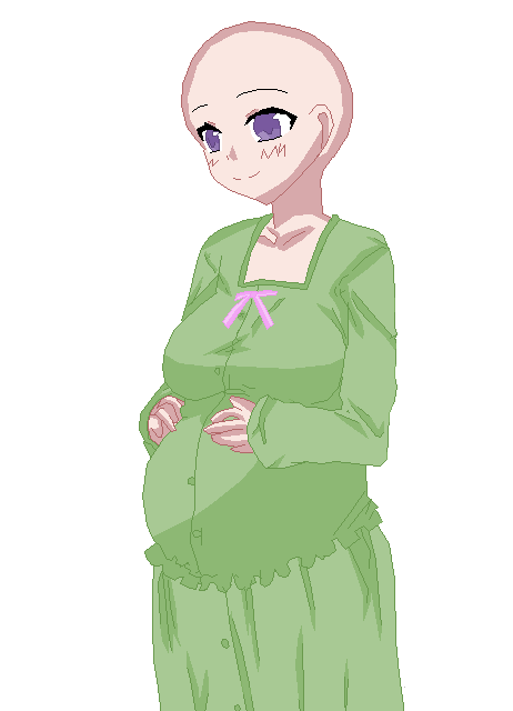 wearing pajamas base by Preg-pixels