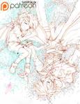 [MF] Oyasumi, My Beloved En - lineart -
