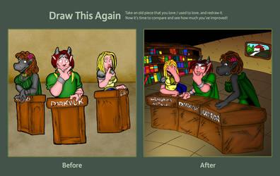 Draw this again: mondo pezzato