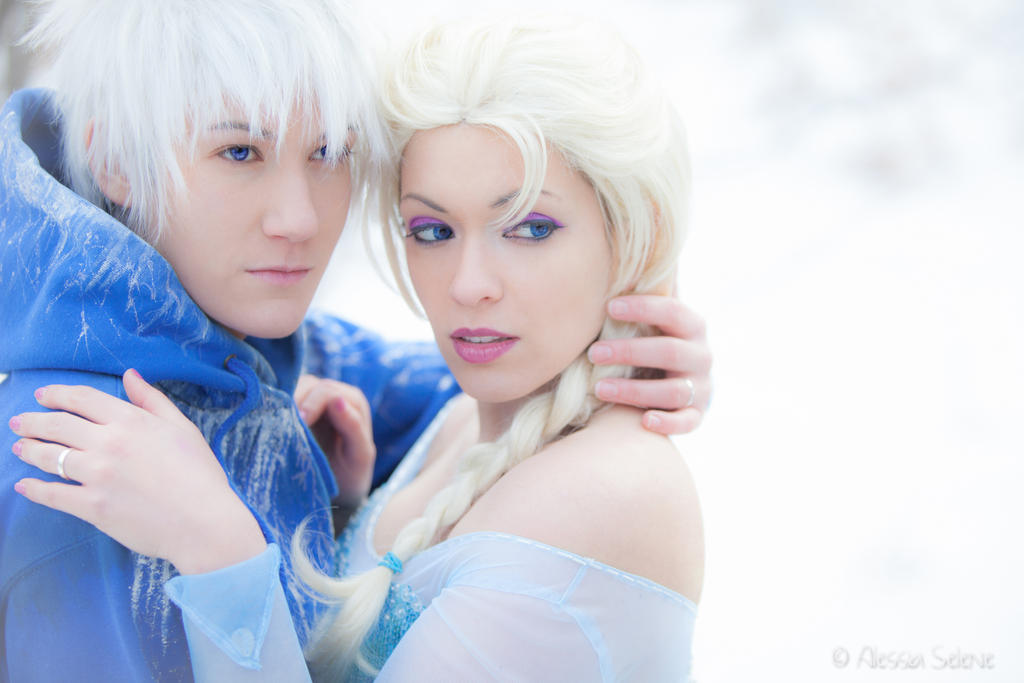Jack Frost and Elsa by AleSelene