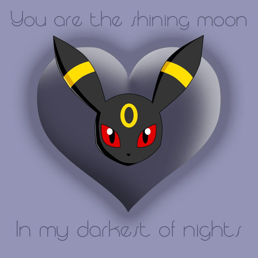 Umbreon's Valentine by CrazyMacYo