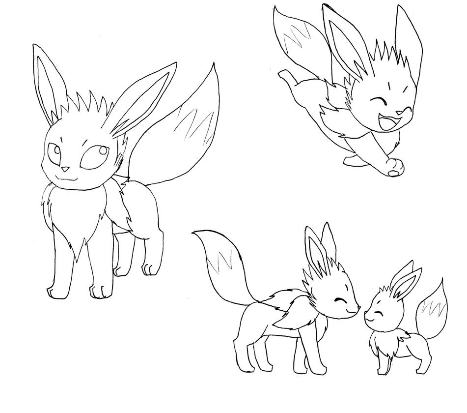 Normal eevee - Fereon by CrazyMacYo
