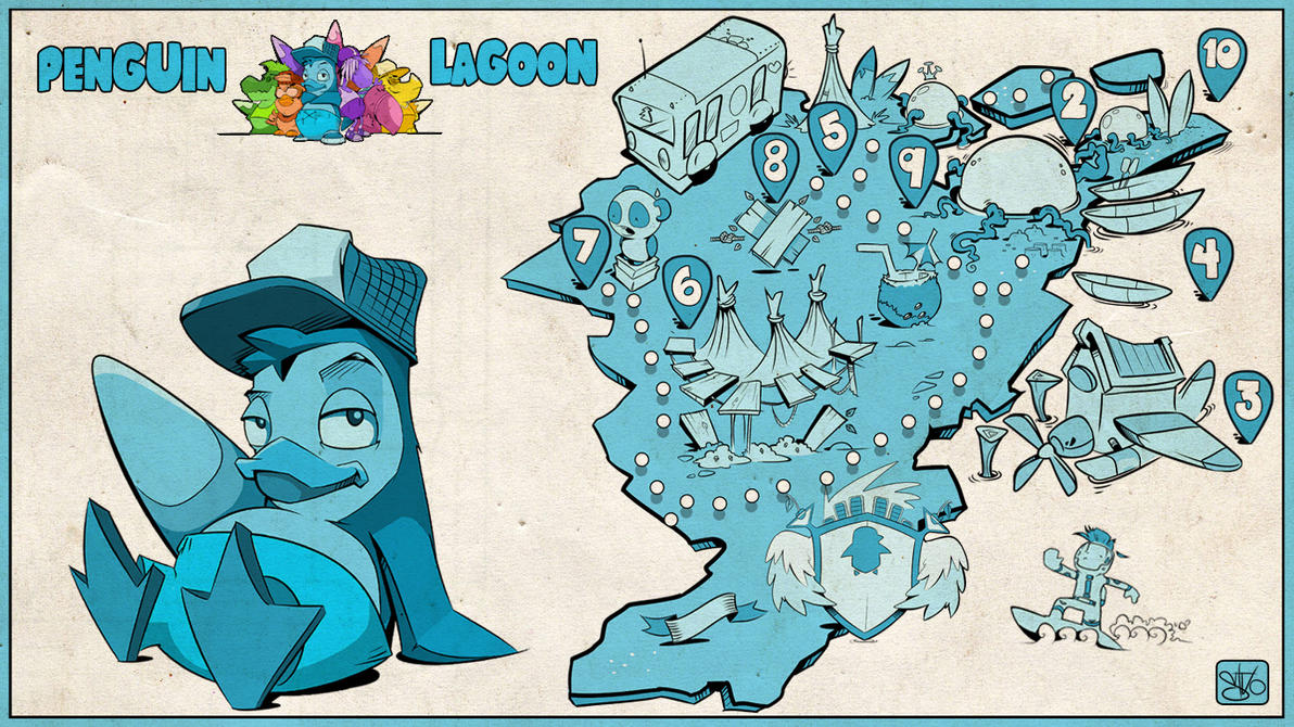 Penguinlagoon Card by stvolko
