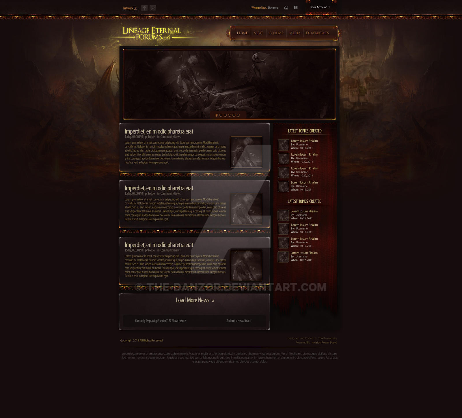 MMORPG.com Concept: Lineage Website by the-danzor