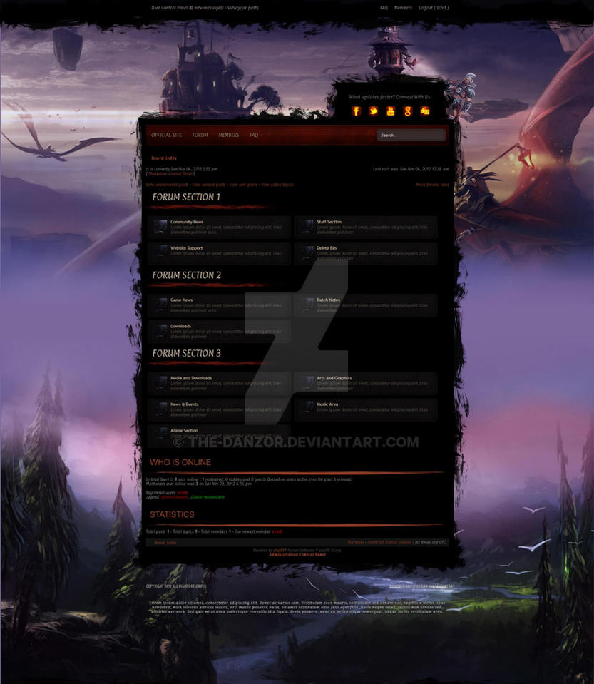 Phpbb: Custom Theme by the-danzor
