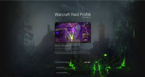 GITHUB: Animated Warcraft UI Design by the-danzor