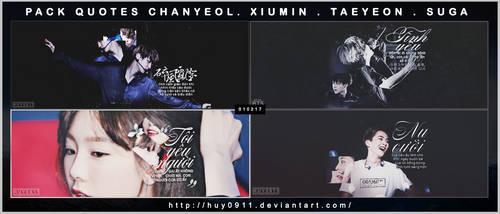 [010217] ChanYeol , Suga , Xiumin , TaeYeon by huy0911