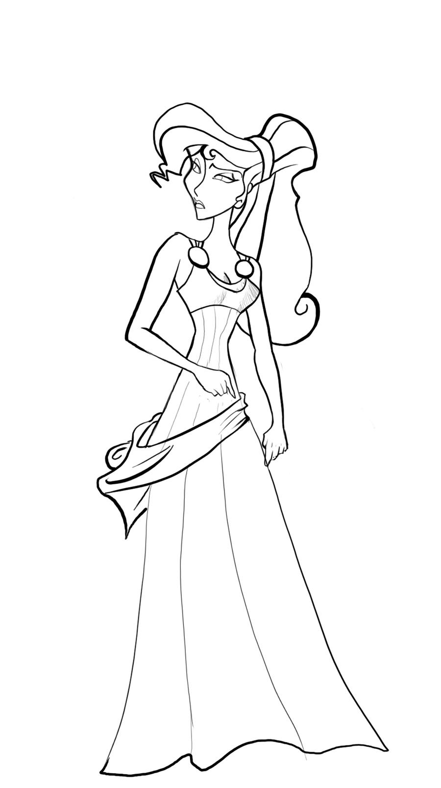 M Hercules And Meg Coloring Pages Coloring Pages Megara Coloring Pages