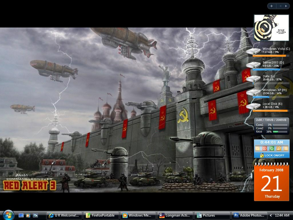 Screenshot Of My Vista Desktop by tayzar44