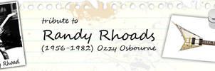 Tribute To Randy Rhoads Banner