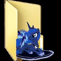 Princess Luna Folder Icon by AlicornBob
