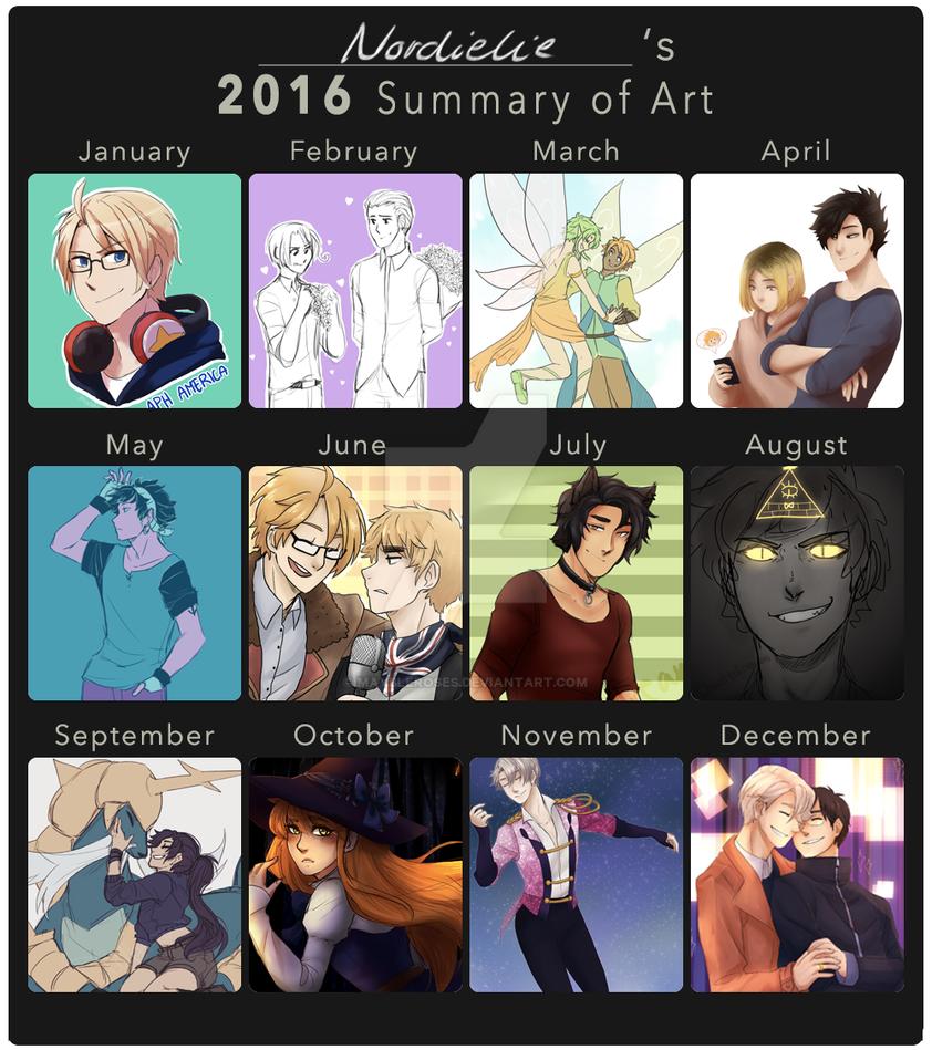 Art summary 2016 by Maybleroses