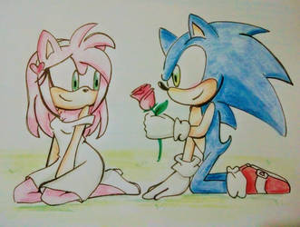 Sonic loves amy by Stitchgirl22