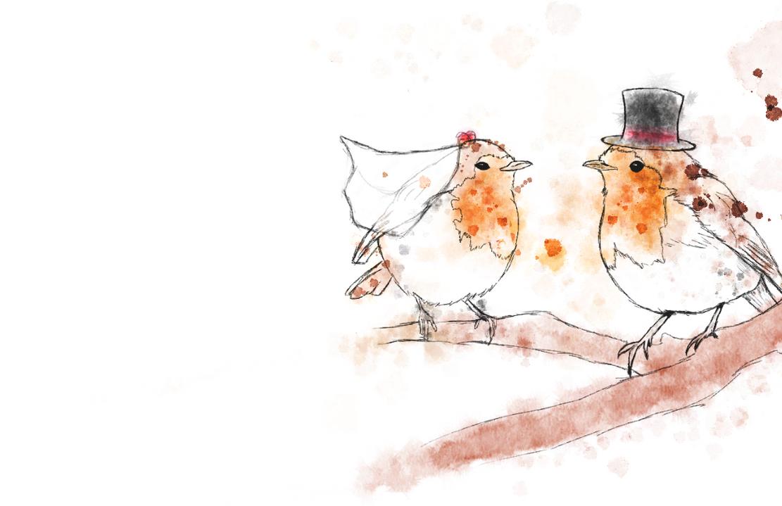 Wedding Robins by Leaf-Assassin