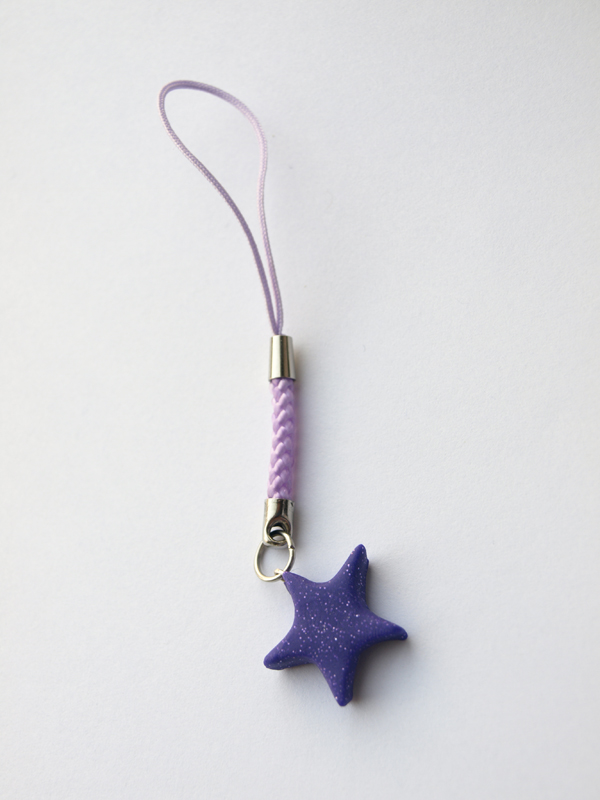 Purple star phone strap by serenainwonderland