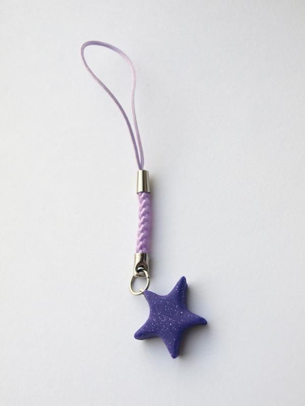 Purple star phone strap by serenainwonderland
