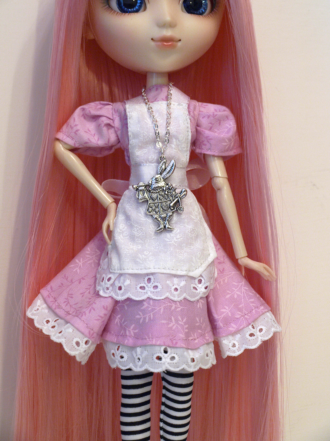 Handmade pink dress for Pullip by serenainwonderland