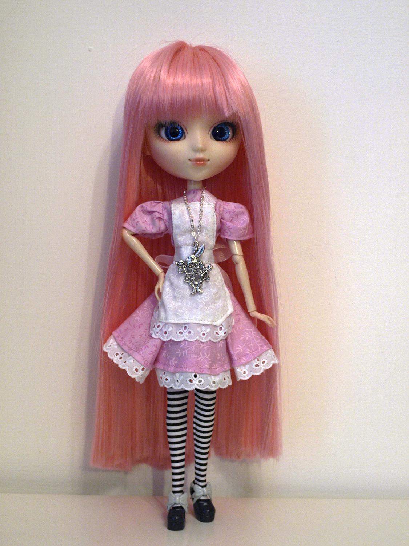 Alice in pink dress handmade by me by serenainwonderland