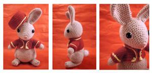 Bellhop Bunny - amigurumi