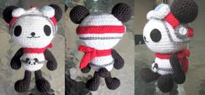 Panda-z Fanart - amigurumi by selkie
