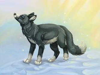 Snow Fox by KageDavies