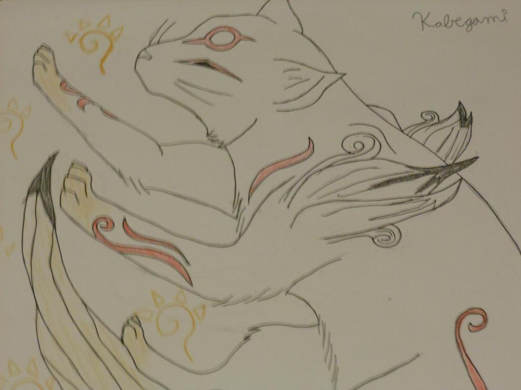 Okami Brush Gods- Kabegami by Darkshadowarts