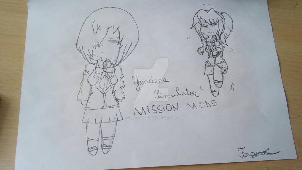Nemesi and Yandere-chan-Fanart by Franci-Bases