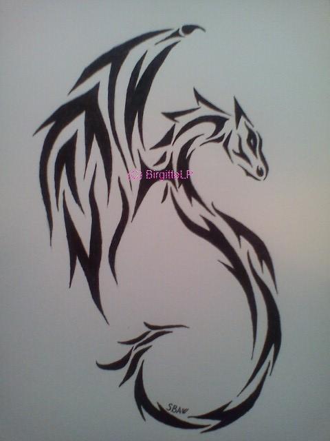Tribal dragon tattoo by lostamongstars on deviantart for Tribal tattoo shops near me