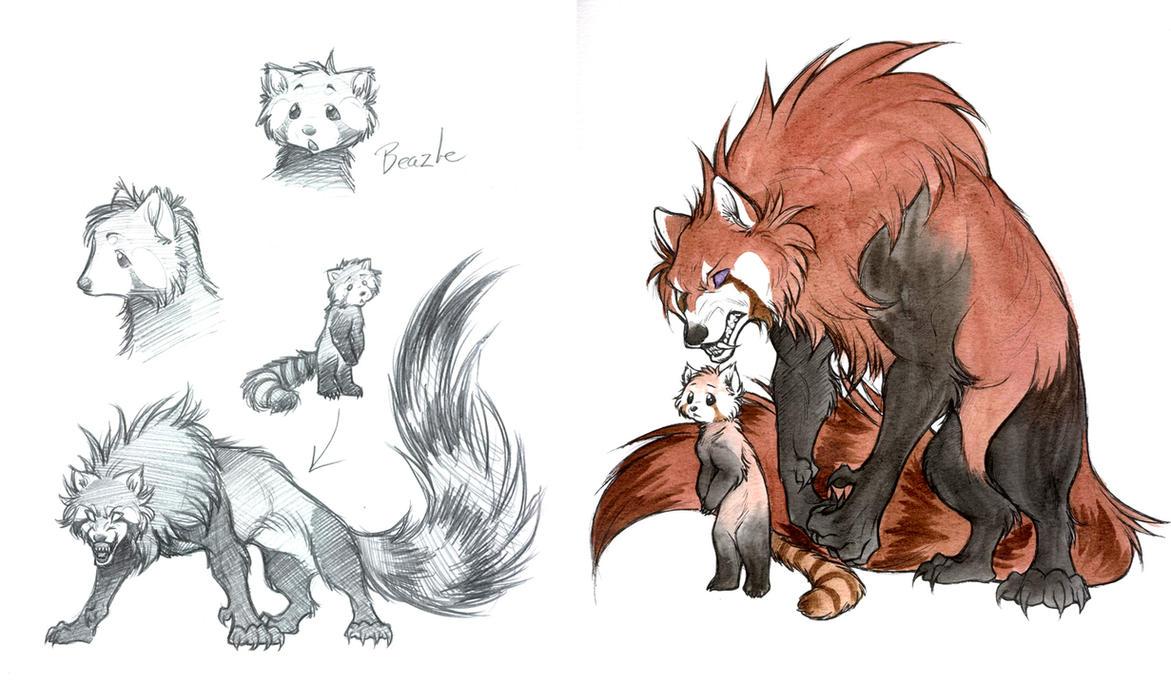 My Red Panda Demon By Jessielp89