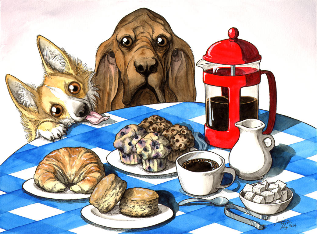 Dogs' Possible Coffee and Pastries by jessielp89