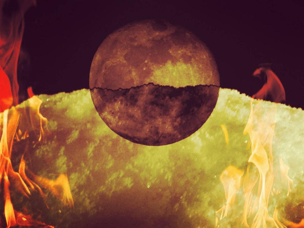 Image result for moon snow fire""