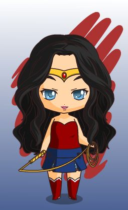 justice league wonder woman chibi style by MAHGOL-DC-LOVER ...