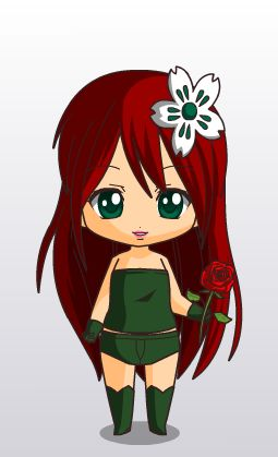 Poison Ivy Chibi Syle By Mahgol Dc Lover On Deviantart