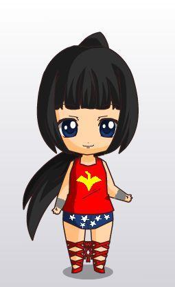 wondergirl (donna troy) chibi style by MAHGOL-DC-LOVER