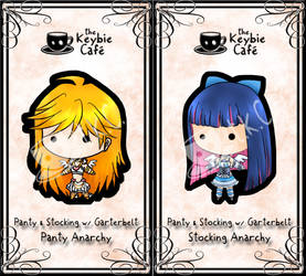 panty and stocking keybies by silverei