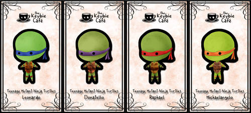 teenage mutant ninja turtle keybies by silverei