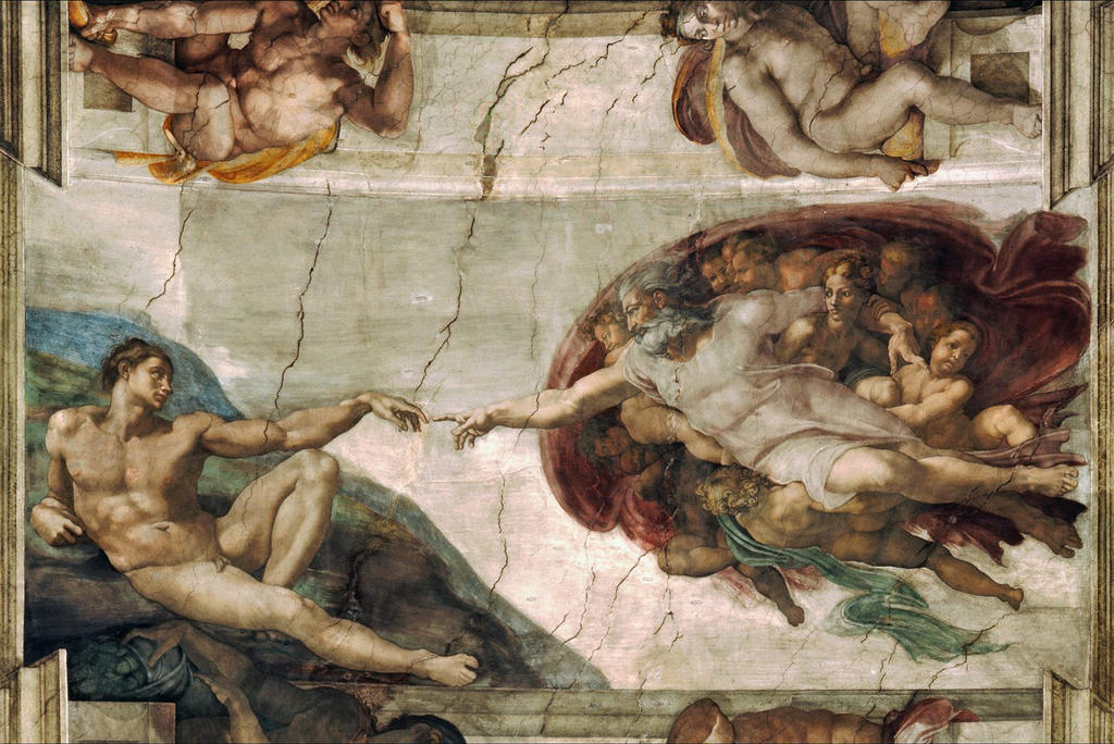 Creation of Adam Michelangelo by SRudy