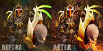 Kolimero Comparison Before and After by NevanGoth