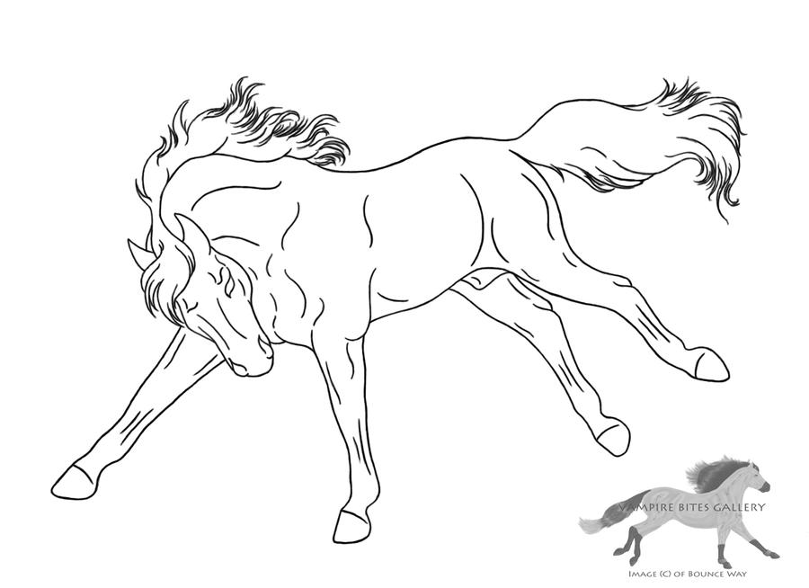 bucking horse lineart free use by rejectall american