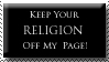 Religion Stamp by RejectAll-American